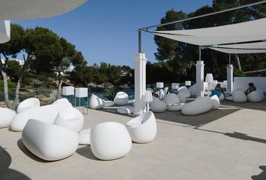 Terrasse Hôtel AluaSoul Mallorca Resort (Adultes Seulement) Cala d'Or, Mallorca